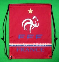 France Soccer Team Kitbag Backpack GYM Drawstring Training Bag Red