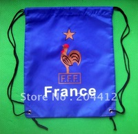 France Soccer Team Kitbag Backpack GYM Drawstring Training Bag Blue @