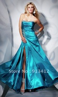 Fast Shipping Best Selling New Arrival Elegant and Sexy  Beading Two layer Long Zipper Backless Prom Dress 2012 Custom Made