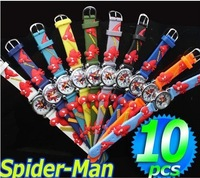 FREE SHIPPING!10PCS Spider-man Cartoon Boy's Watches gift , Xmas Gift