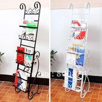 European-style garden fashion Book shelf Iron floor magazine rack Creative antiqueracks Spot