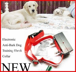 Free shipping! New Anti Bark Dog Training Shock Control collar No Bark Collar Pet Bark Stopper 10pcs/lot by CPAM(China (Mainland))