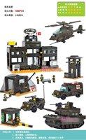 Building blocks / toys / Army Headquarters B7100  1086PCS