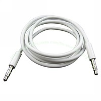 Free shipping Wholesales High Quality White 3.5mm To 3.5 mm Audio Cable For Car Aux,MP3 for iphone ipod Dropshipping