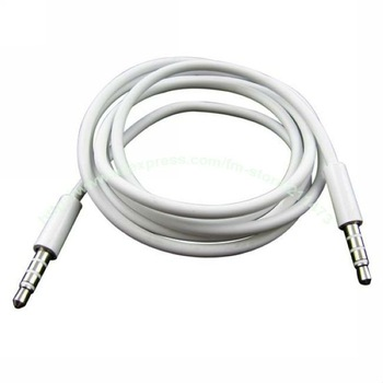 Free shipping Wholesales High Quality White 3.5mm To 3.5 mm Audio Cable For Car Aux,MP3 Dropshipping,iphone,ipad.ipod