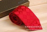 Fashion Tie Red business dress silk tie wedding Sang Cansi
