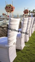 ruffle  Spandex Chair Cover/white color square top