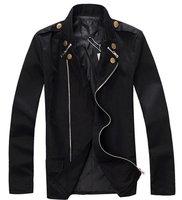 Wholesale&retail Men's Trench Jacket Fashion Autumn Thin style Windbreaker, Double Button Badge Coat Black M-XXL Free ship R18
