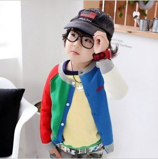 free shipping 2012 autumn new arriving children's O-neck jacket,boy's korean style coat
