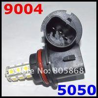 Free shipping 10pcs/lot 9004(HB1) 18 SMD 5050 Car LED FOG LAMP Light High Beam Light Car Auto / Tail / Head light