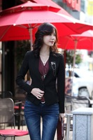 New style fashion high quality long regular women coat casual blazers free shipping LJ120