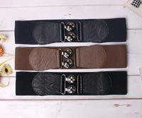Ultra wide fashion cummerbund gem wide belt rhinestone elastic waist belt hot-selling women's belt