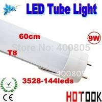 LED Tube Light T8 9W G13 600mm 60CM 3528 144leds Lights Bulb 85V~265V warranty 2 years CE RoHS x 50PCS -- ship via express