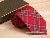 Brand tie Scotland Plaid tie dyed leisure Mens Silk Tie