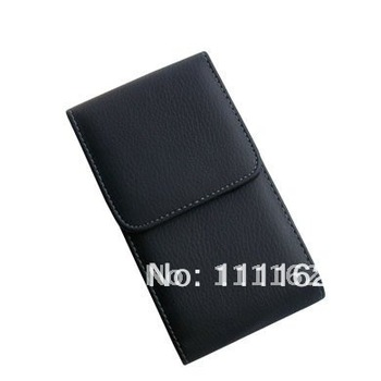 100%New Leather Belt Clip Holster Pouch Case FOR  HTC Inspire 4G Free Shipping:BLACK