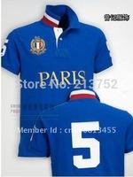 brand polo shirts hot selling MEN short sleeve shirt, Paris polos clothing ,S, M, L, XL, XXL free shipping
