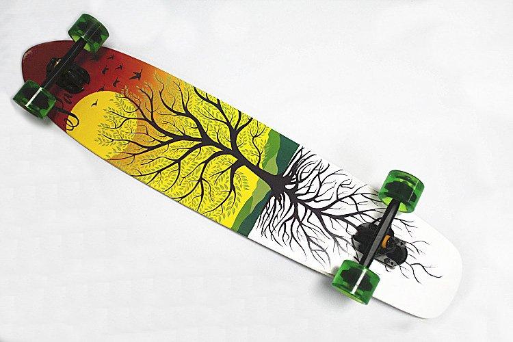 Grátis 42''Complete envio Setor Longboard 9 Cruiser Skate Longboard bordo Skate Longboards(China (Mainland))