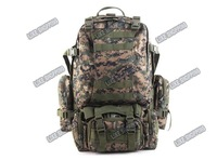 Outdoor Sport Mountaineering Backpack tactical military combat bag Jungle camouflage free ship
