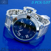 5 pcs/lot New 2012 WEIDE Day Date Alarm Analog LED Sport Watch Mens Xmas Gift WH-1008-1