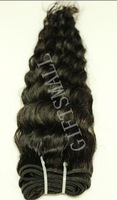 "18"",2 pcs/lot,200g,Women Brazilian Virgin Hair Weft,Lady Hair Extensions,CURLY,Deep Wavy,Top Quality"