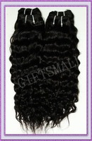 "24"",2 pcs/lot,100g(3.5 oz)/bundle,Women Virgin Brazilian Hair Weft,Human Hair Extensions,CURLY,Deep Wave,High Quality"