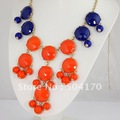 Grade AAAA! Trial/Smaple Order! Inspired! Navy Blue/Red 30mm Bubble Necklace,Nickel/Lead Free,No MOQ,Free Shipping Retail