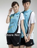 YY-601 2012 New Badminton Tennis Sports jersey badminton shirt+short for Men/Women