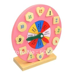Puzzle toy color clock digital shape assembled clock(China (Mainland))