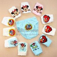 2012 child briefs male elastic 100% cotton panties cartoon graphic patterns