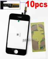 10PCS  Replacement Touch Screen Digitizer+Adhesive for iPhone 3GS  B0012+E4001