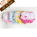 A+++ Quality same as pic.~3pcs/4 colors 80/90/100 Baby Girl Ruffle Bloomer Shorts w Lace Nappy cover Panties Diaper-MULTI-Colors