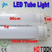 Wholesale G13 T8 14W LED Tube 900mm 90CM 3528 216 LED Tube Light 85V~265V warranty 2 years CE RoHS  x 20 PCS - ship via express
