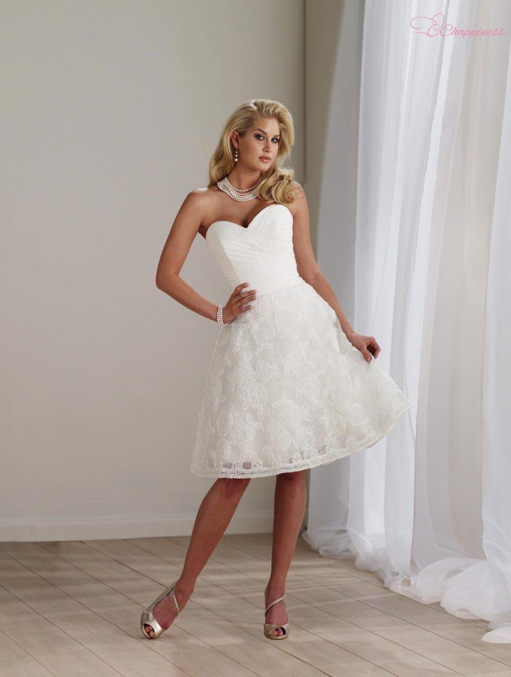 Short Ivory Wedding Dresses - Cocktail Dresses 2016