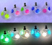 Freeshipping!!  100pcs/lot luminous glass vial pendant  Round Point  Essential Oil Pendant Neckalce Pendant