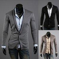 2012 NEW, dropship V-neck elegant fashion cool men's cardigan jacket coat