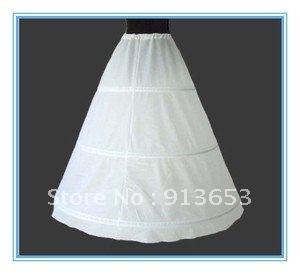 Free shipping Unique design White 3- hoop Wedding Petticoat Bridal Accessories Petticoat Crinoline