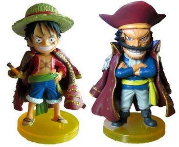 One Piece Monkey D Luffy & Gol D Roger Action Figures 2pcs New