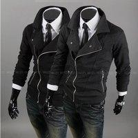 2012 NEW autumn and winter, elegant cool men's hoodies fleeces jacket coat