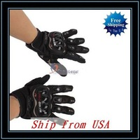 Free Shipping + Wholesale 10pcs/lot Bicycle/Motorcycle Riding Gloves Black XL Ship from USA-Q01379