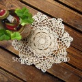 Refined Handmade Cotton Crochet Hook Flower Pure color Decoration Mats,Place Mats For Table Decoration Free Shipping