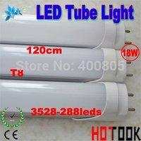 3528 LED Tube G13 T8 18W 1200mm 120CM 3528SMD 288leds Tube Lamp 85V~265V CE RoHS warranty 2 years x 30 PCS -- ship via express