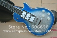 Wholesale  Ace frehley signature ebony fingerboard silve blue Bright body Electric Guitar 2012 HOT SALE