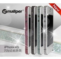 Wholesale Classic Sticker 50pcs/Lot Colorful Sticker for iPhone 4GS 4G Side Bumpers, For iPhone 4GS 4G Sticker