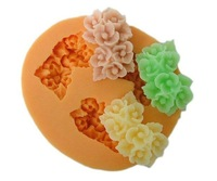 3D flowers chocolate cake Soft silicone resin Mold mould for DIY candy chocolate Bakeware cake tools