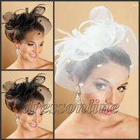 VE462 Free Shipping Black Ivory White Bridal Wedding Hats Birdcage Short Veils Popular 2012