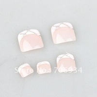 20sets/lot Toe Nails Tips With Nail Glue Acrylic Nail Art False