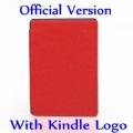 Бесплатная Доставка Красный Официальный Жесткий Назад Кожаный Мешочек Корпус С Kindle Логотип Для Amazon Kindle 4