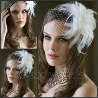 VE468 Gorgeous Ivory White Net Bridal Wedding Hats Bridcage Face Veils Ready to Ship