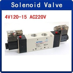 Wholesale 4V120-15 AC220V 2 Position 5 Way Inner Guide Type Solenoid Valve(China (Mainland))