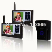 Wholesale-new wireless colour video doorbell 1 to 2 / security intercom with night vision /  touching key / taking pictures